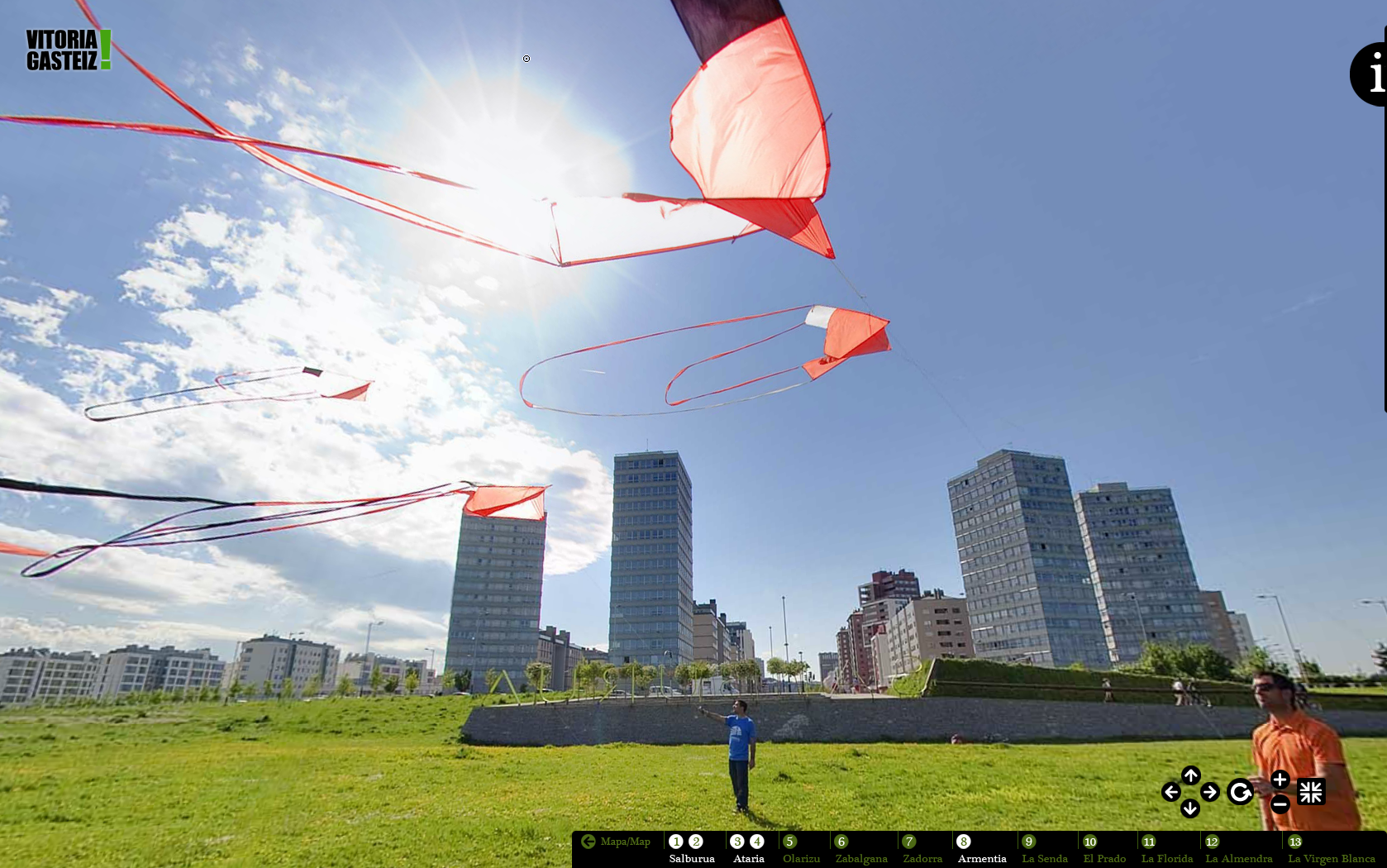 Fotografía panorámica 360º del Parque de Salburua en la Visita Virtual - Vitoria-Gasteiz, Green Capital 2012