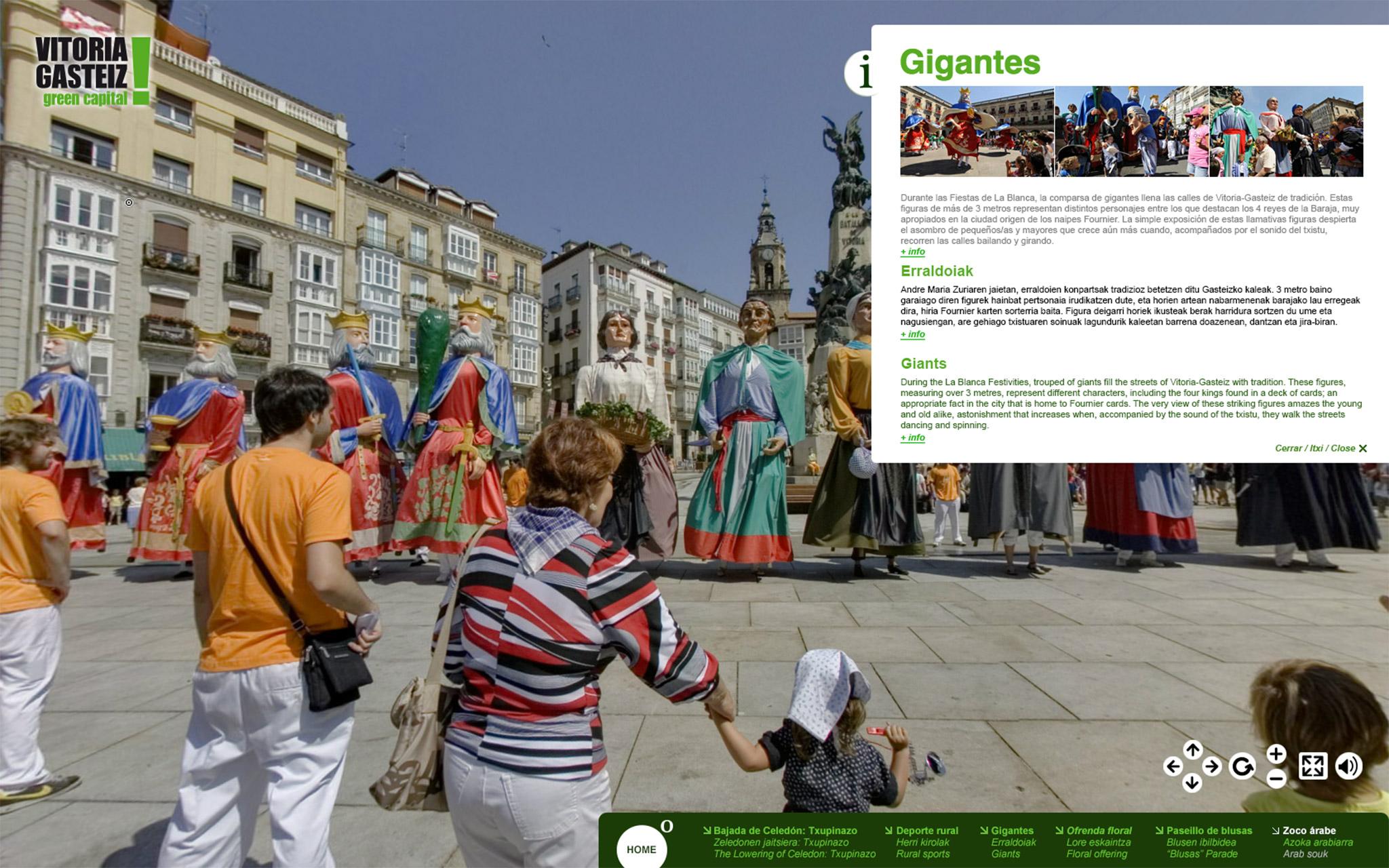 Fotografía de la panorámica en 360º de los Gigantes en la Visita Virtual La Blanca 360º