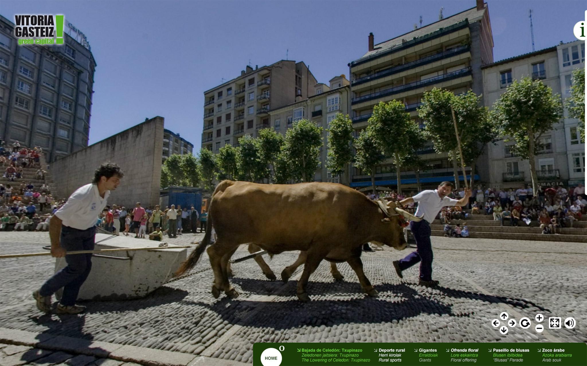 Fotografía de la panorámica en 360º del Deporte Rural en la Visita Virtual La Blanca 360º