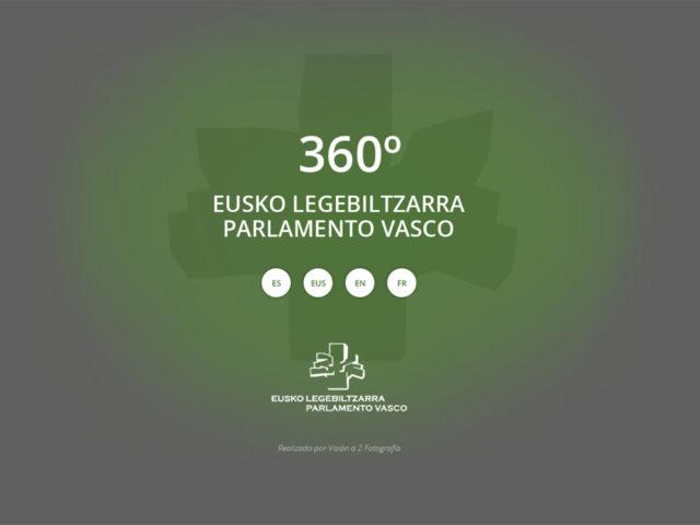 Fotografía Inicio Visita Virtual Parlamento Vasco