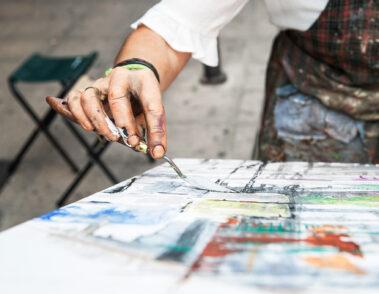 Concurso de Pintura al Aire Libre organizado por el Ayuntamiento de Vitoria - Gasteiz.