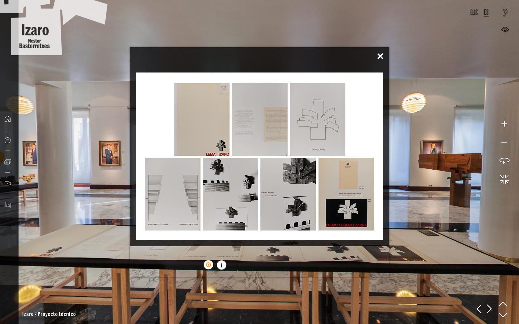 """Visita Virtual en 360º a la Exposición """"Izaro. Nestor Basterretxea"""""""