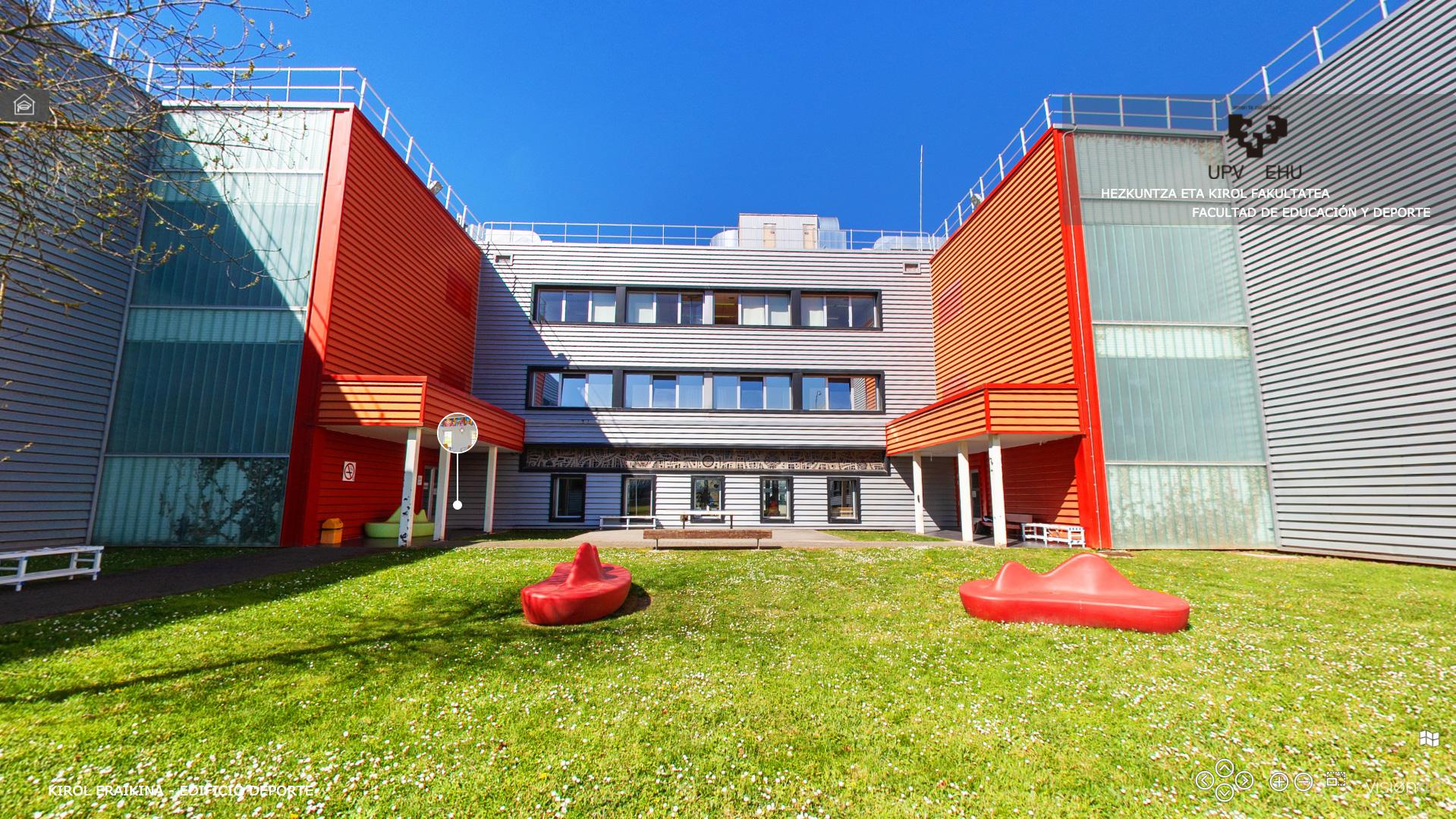 Visita Virtual 360º - Facultad de Educación y Deporte - UPV-EHU. Edificio Deporte