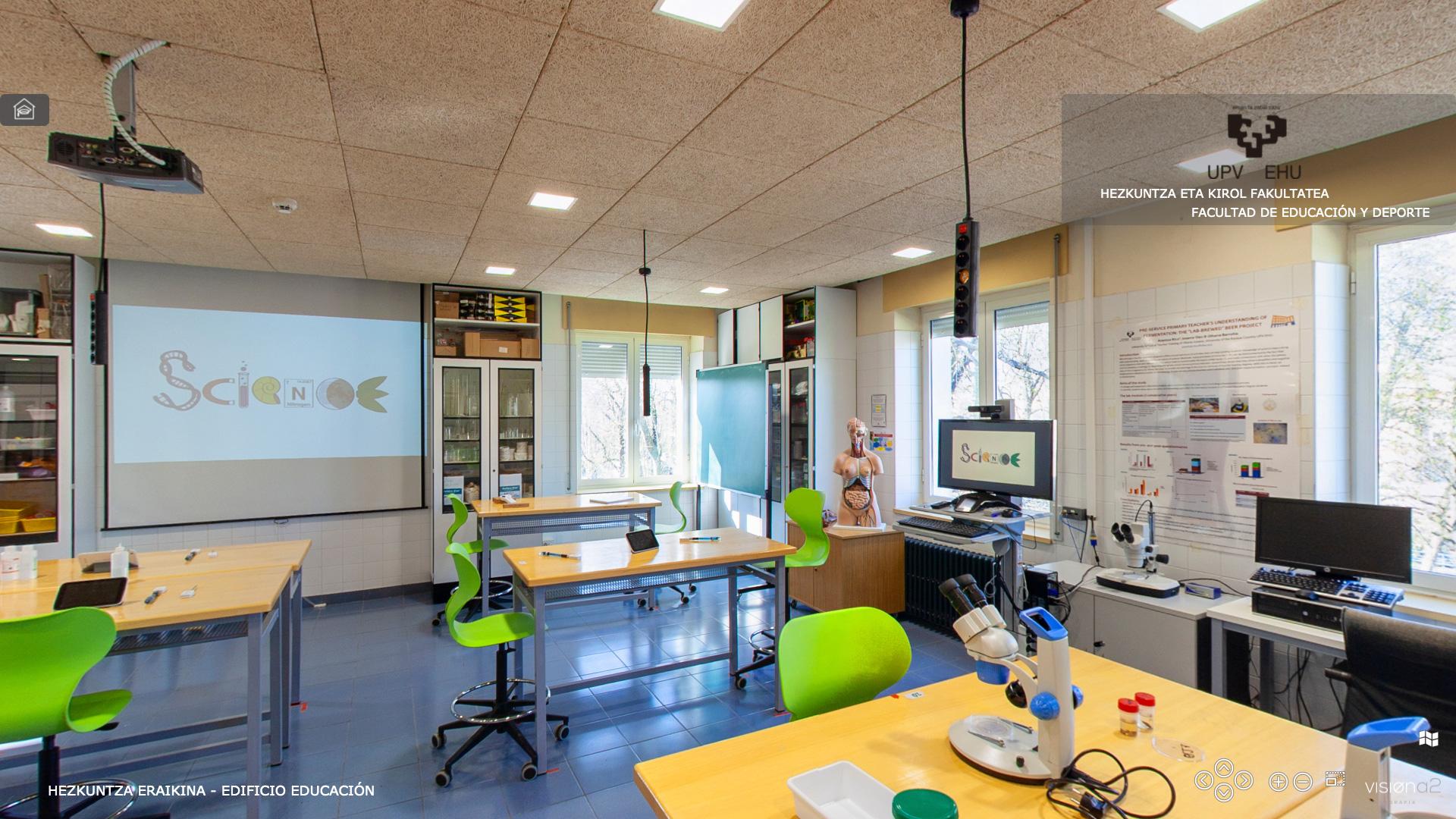 Visita Virtual 360º - Facultad de Educación y Deporte - UPV-EHU. Edificio Educación